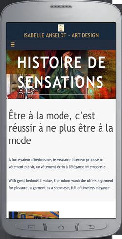Anselot Art-Design WebApp mockup